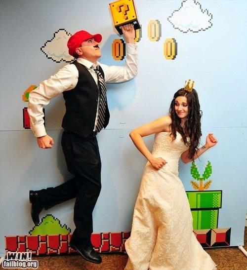 mariés super mario