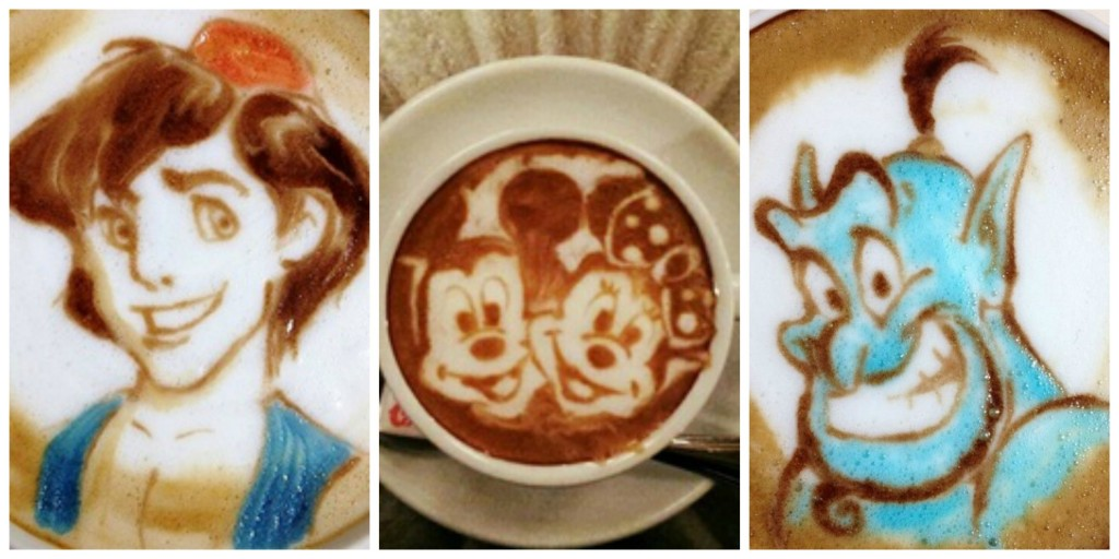 latte art disney