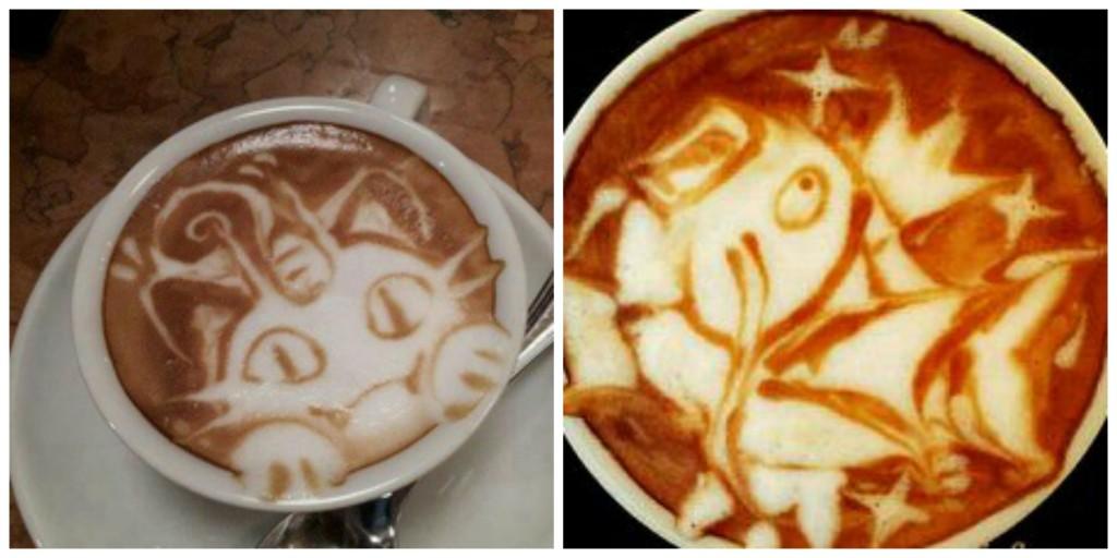 latte art pokemon