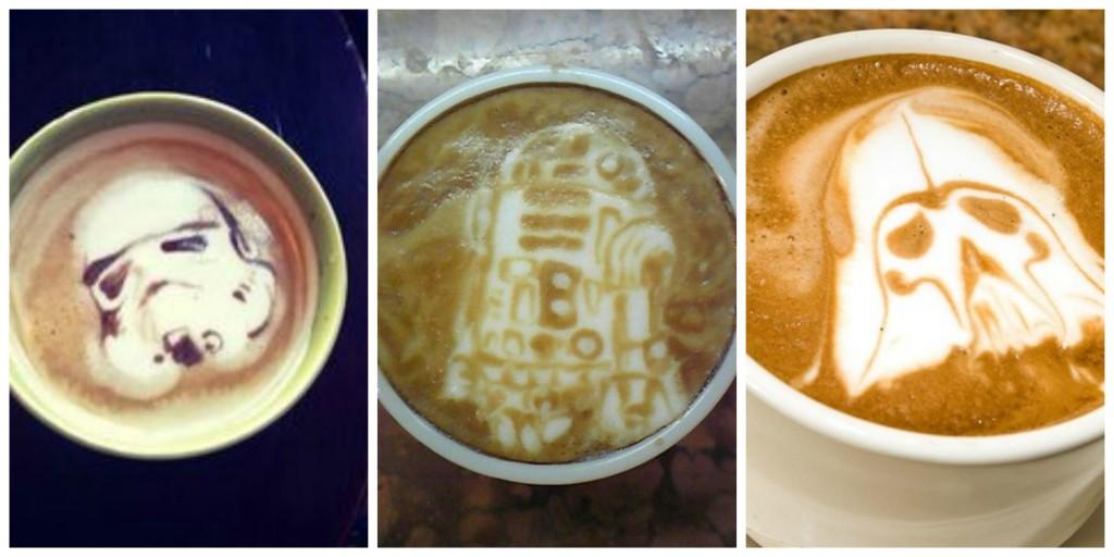 latte art star wars