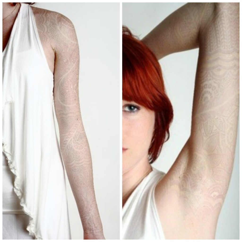 tatouage encre blanche