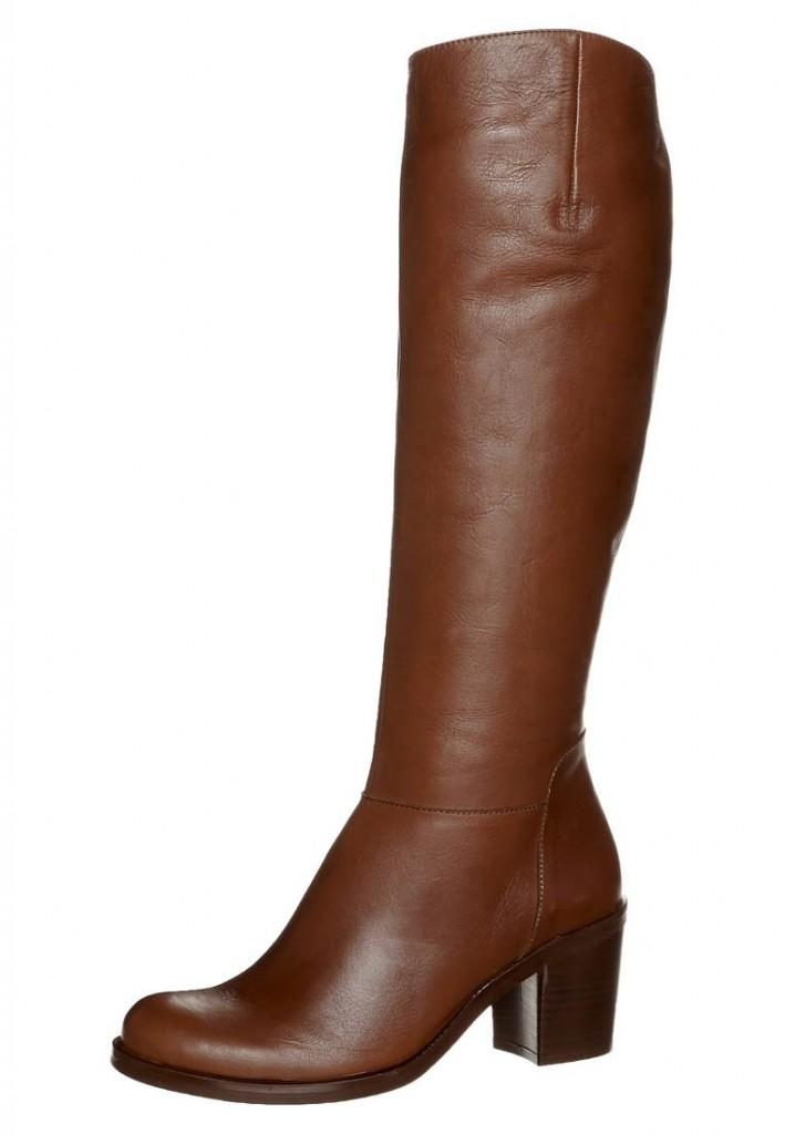 bottes cuir marron