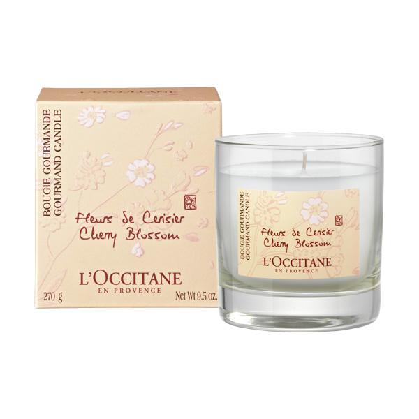 bougie fleurs de cerisier occitane