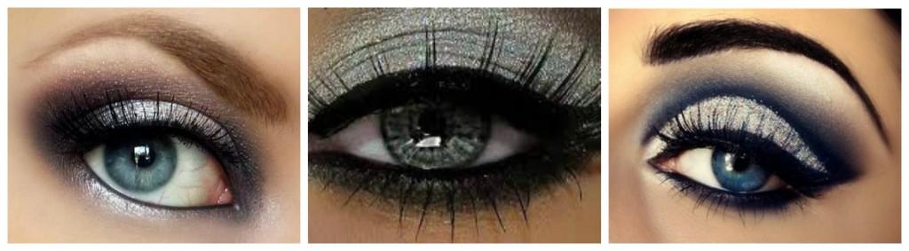 maquillage de fete argente