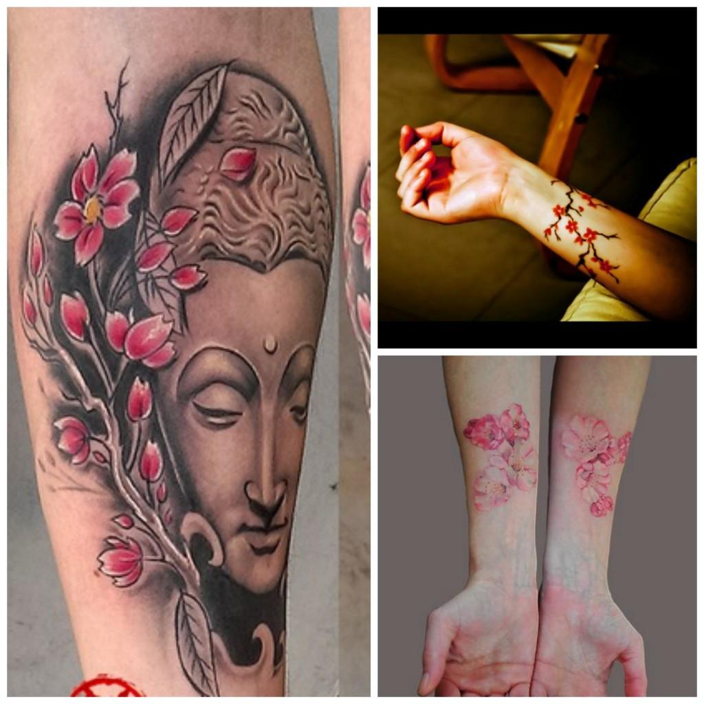 tatouage fleurs de cerisier