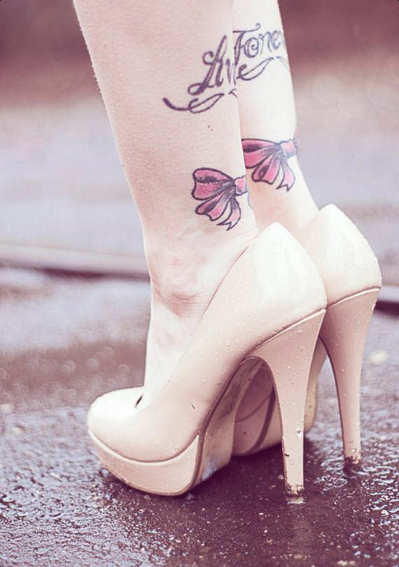 tatouage noeud romantique
