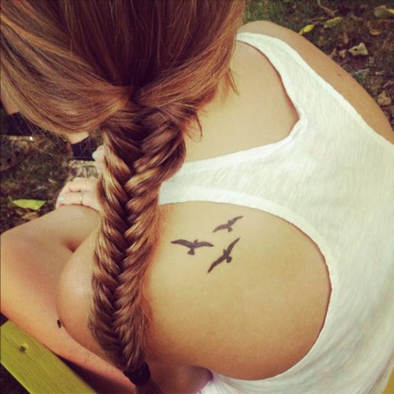 tatouage oiseau ombre