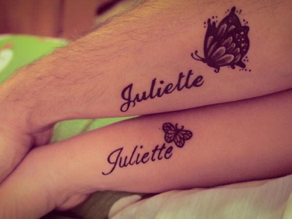 tatouage prénom couple