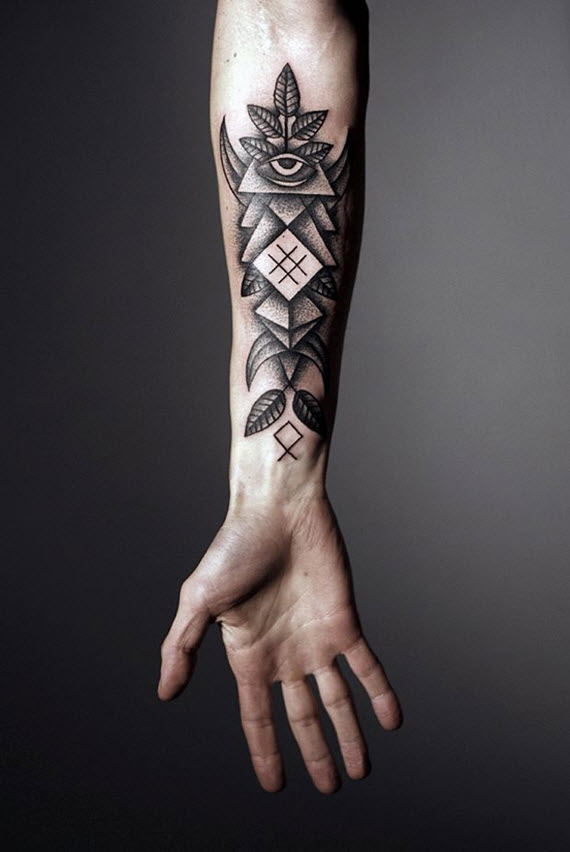 tatouage avant bras geometrique