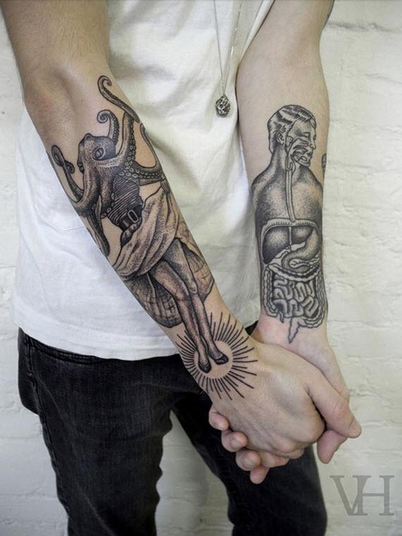tatouage avant bras insolite