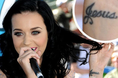tattoo jesus katy perry