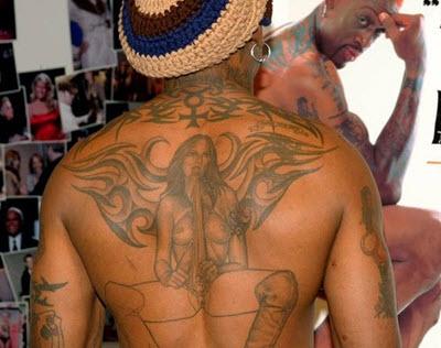 dennis rodman tatouage dos