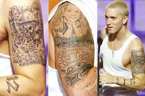tatouages bras eminem