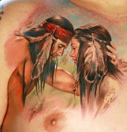 tatouage indien torse