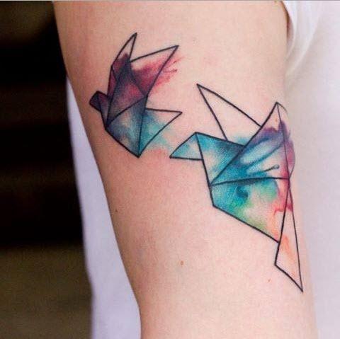 Tatouage Origami Mademoiselle Web