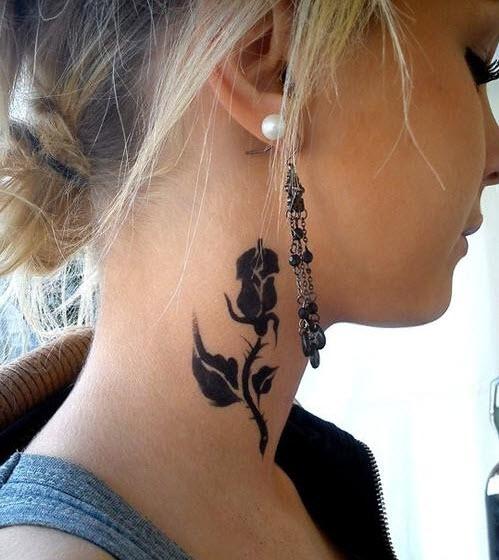 idées de tatouage sur le cou !